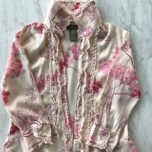 Anthropologie Tops - Fei from Anthropologie blouse with peplum flare